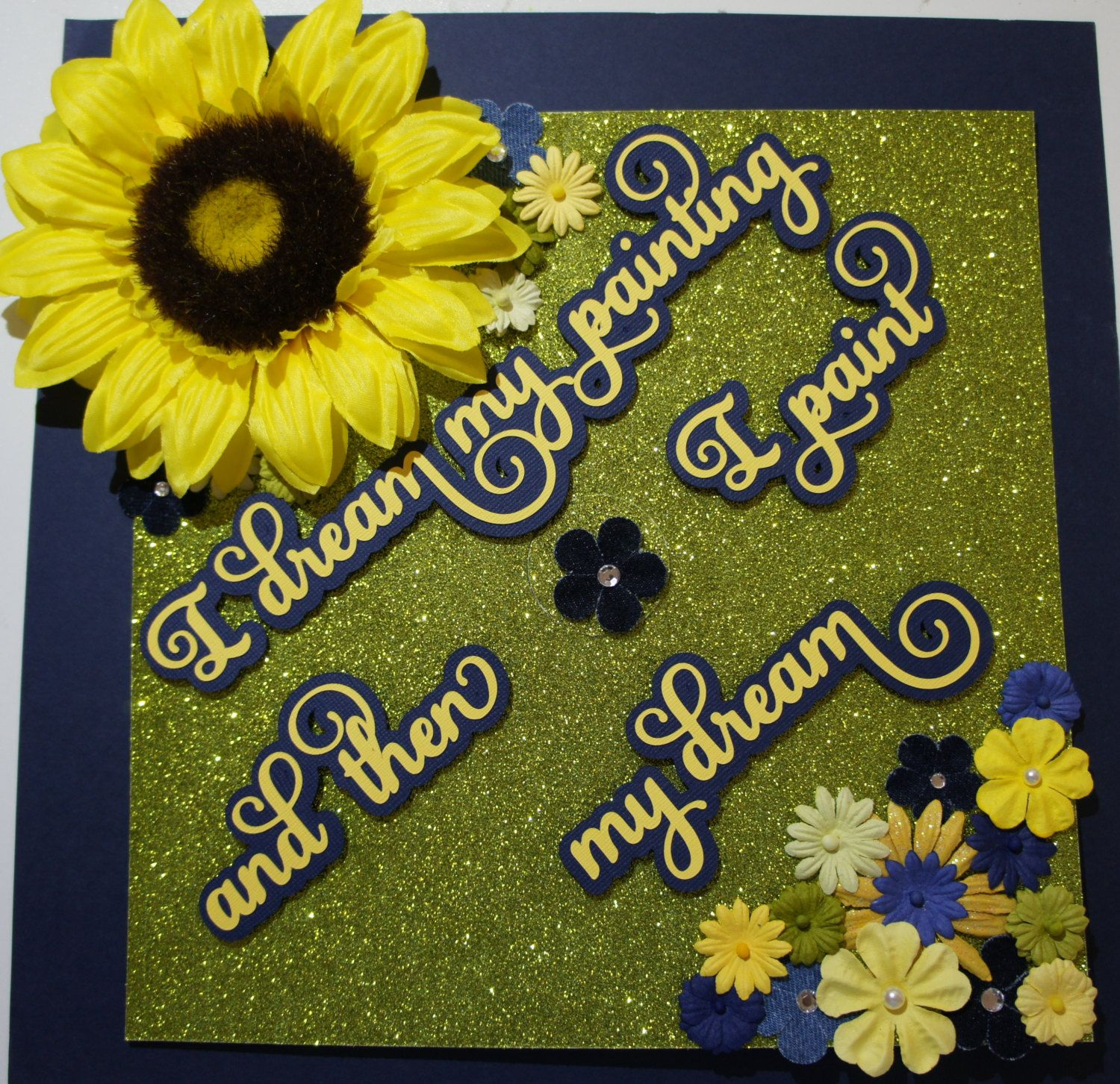 Custom Graduation Cap Topper! Customize with flowers and your ...