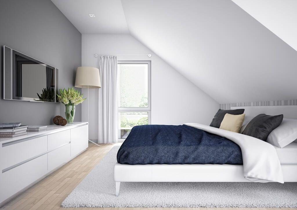 Inneneinrichtung SCHLAFZIMMER SATTELDACH * Haus Edition 1 V7 Bien - schlafzimmer mit dachschräge gestalten