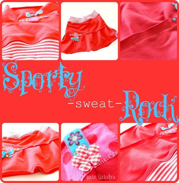 Schnittmuster für süßen Jersey Rock mit volant | Mädchen Röcke ...