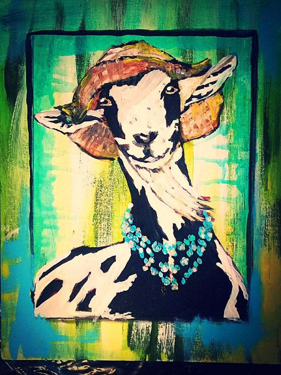 Glamour. GOAT ART PRINTS. Home Decor High by thetrinketcollection ...
