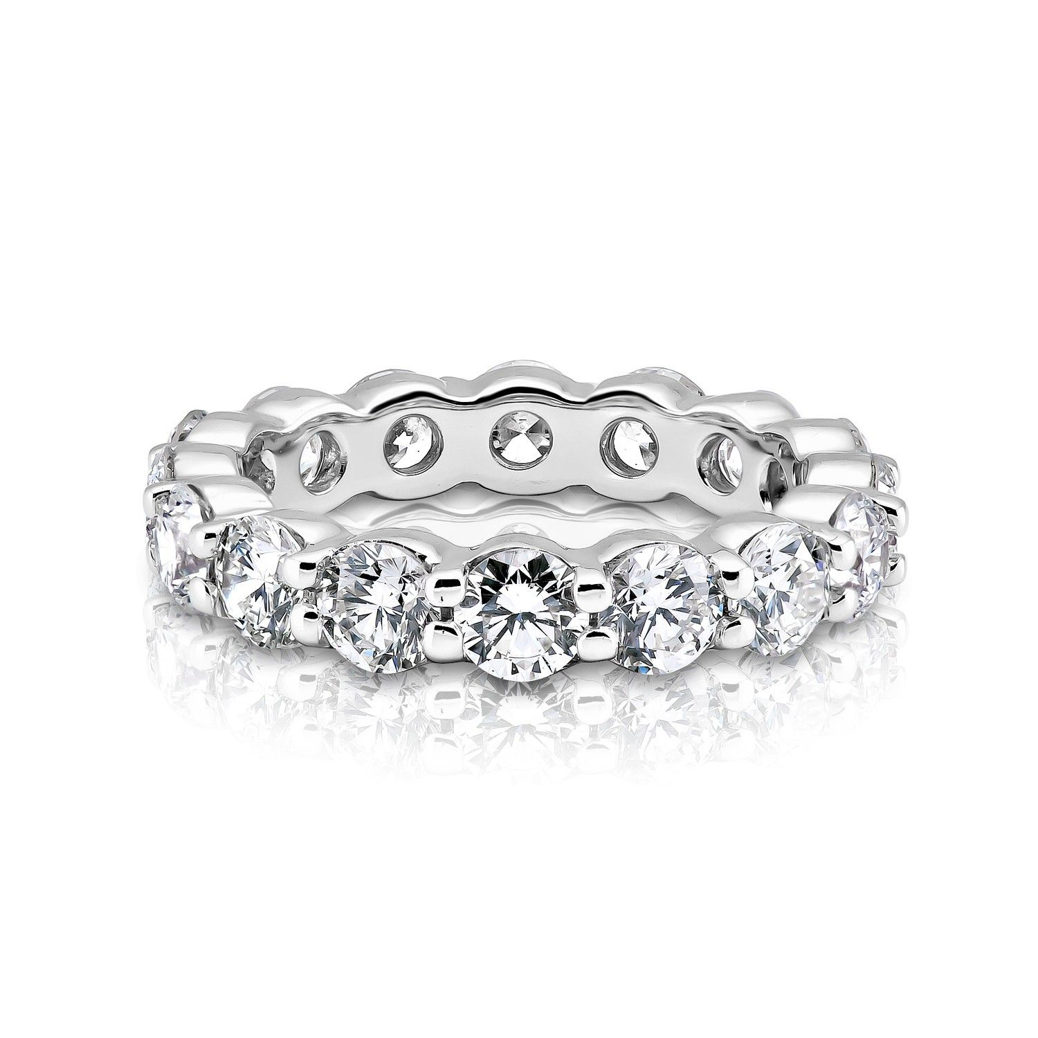 platinum jewellery diamond carat p ring eternity half baguette rings