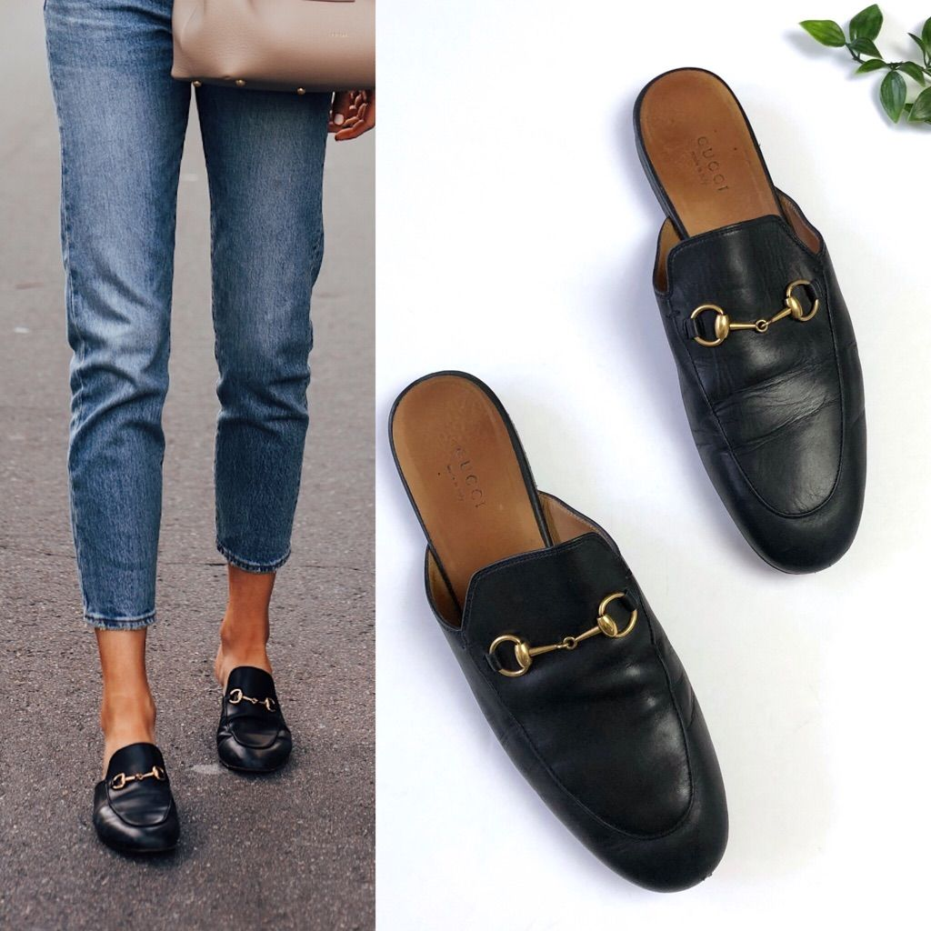 Gucci Princetown Leather Mule Loafer in