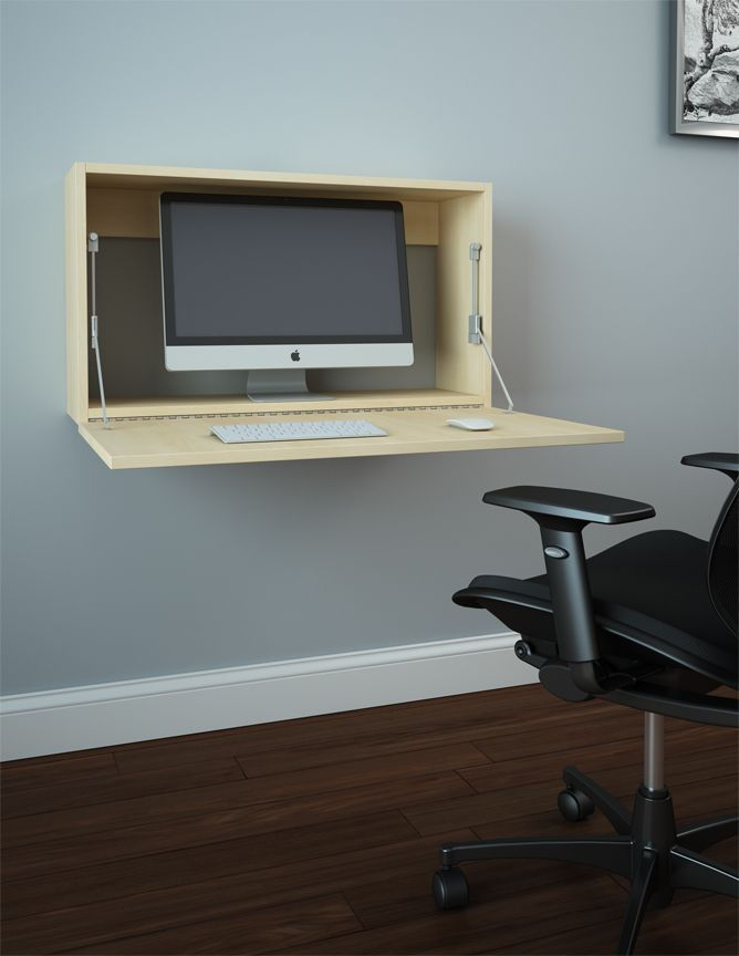 One Of The Best Ideas When It Comes To Saving Space In Small Apartments Is To Install A Wall Mounted Desk Wa Computer Desk Small Computer Desk Diy Office Desk