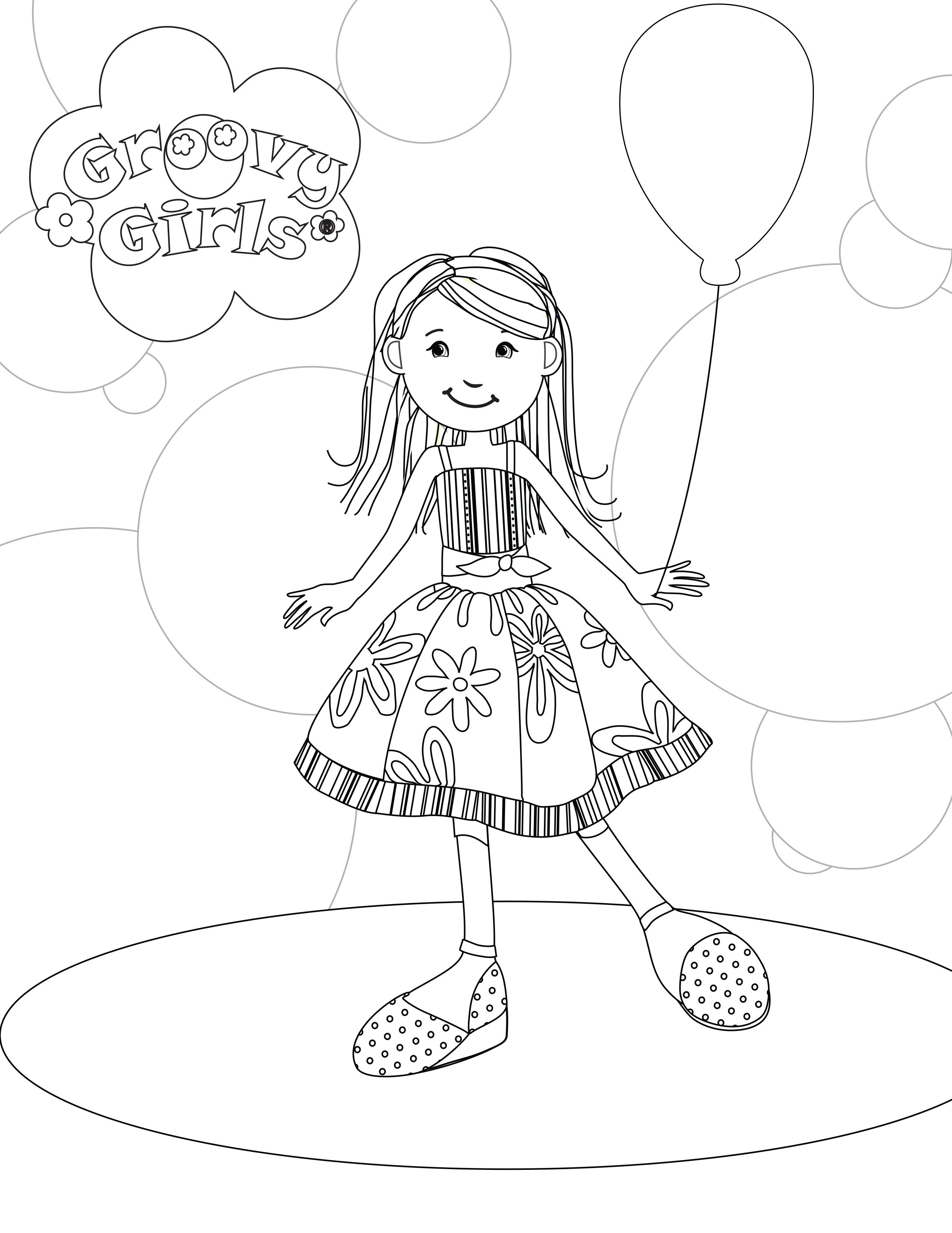 Coloring page : Groovy girl - Coloring.me | 3300x2550