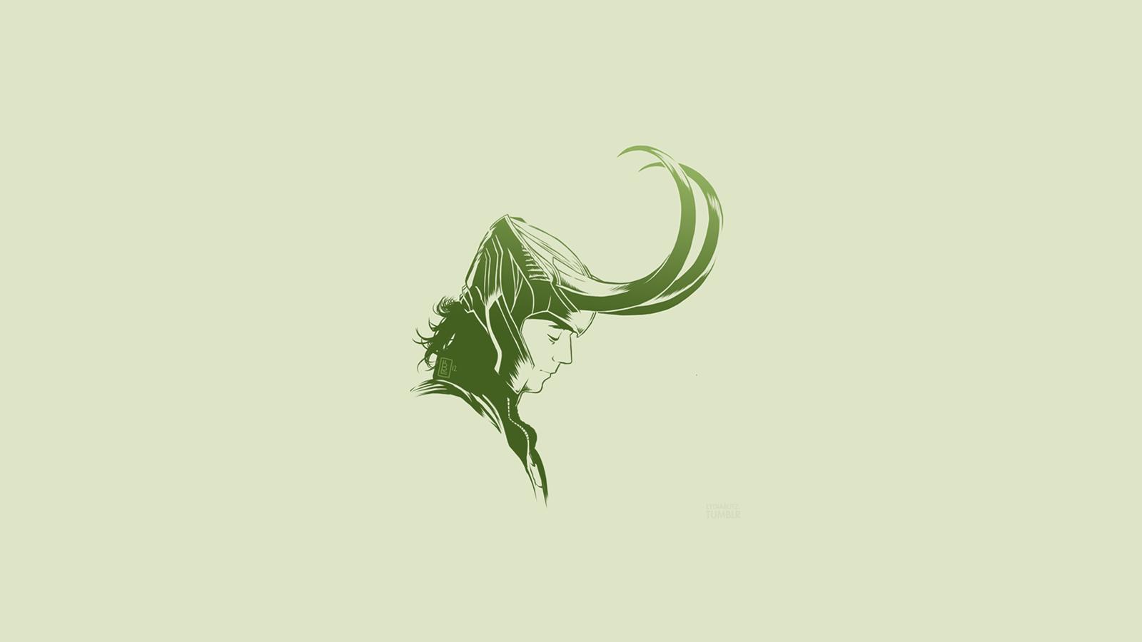 minimalism simple background artwork loki thor