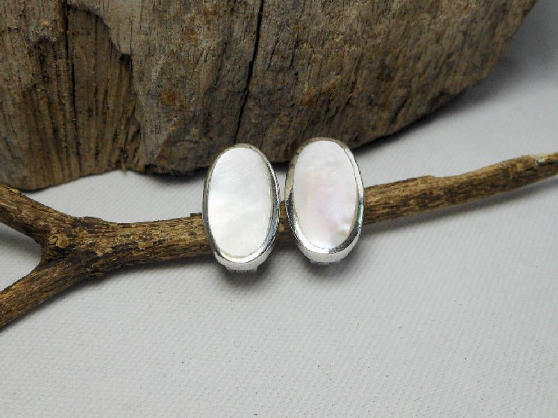Gorgeous Sterling Silver Oval White Mother Pearl Hoop Earrings,Mother Pearl Huggie Earring,Mother Pearl Hoop Earrings,Personalized Gifts by Supsilver on Etsy