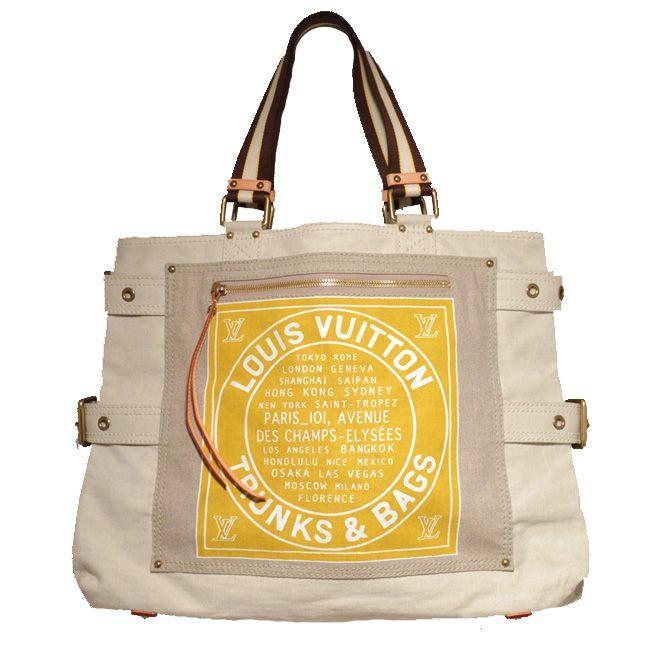 louis vuitton canvas tote   Louis Vuitton: Louis Vuitton Canvas Shoulder Bag Tote   MALLERIES