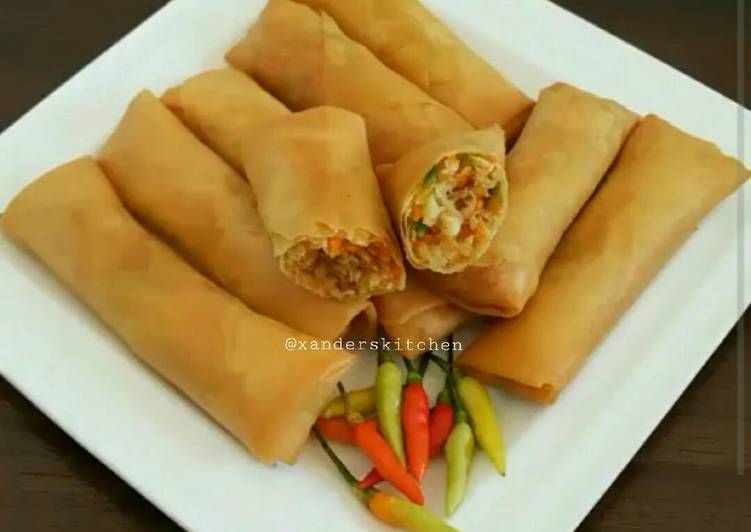 Resep Lumpia Sayur Ebi Oleh Xander S Kitchen Resep Lumpia Semarang Makanan Masakan