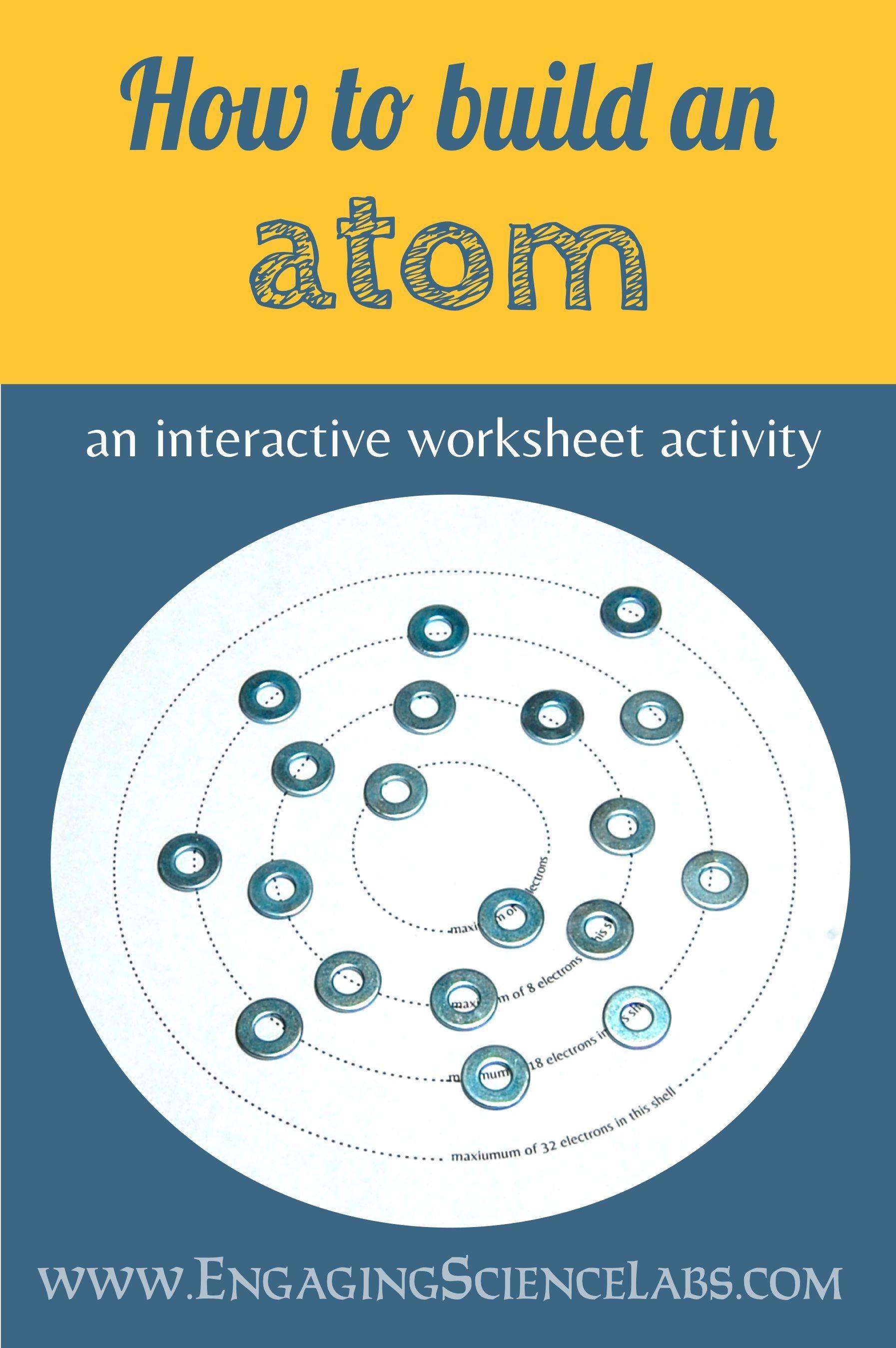 Atomic Structure Constructing Bohr Models A Manipulative