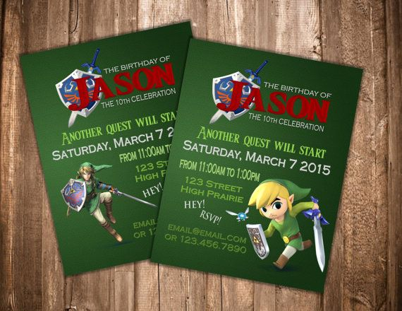 Zelda invitation birthday pinterest birthdays zelda invitation stopboris Choice Image