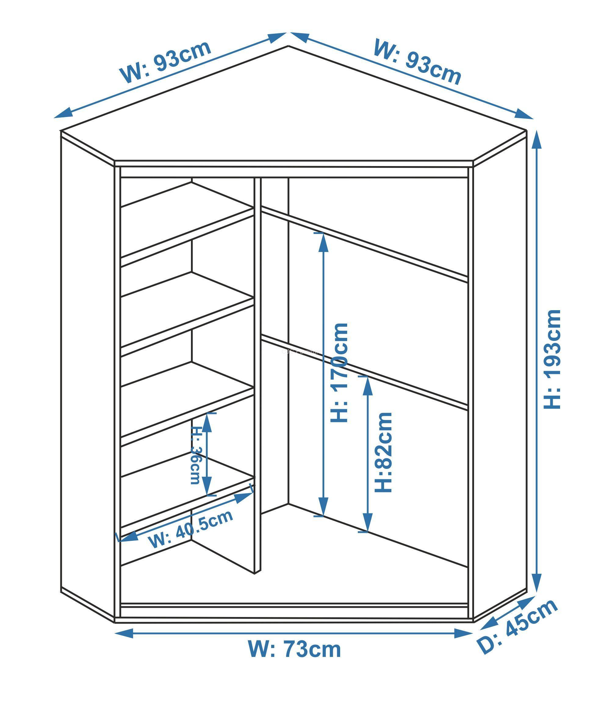 Armadio Piccolo Ad Angolo armoireclothescloset | yatak odası dolap düzenleme, dolaplar