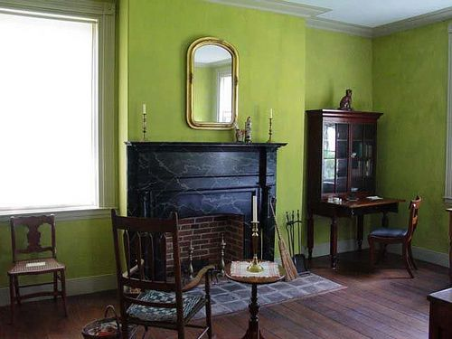 Living Room Green Paint