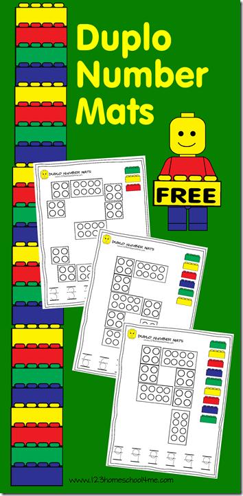 Free Number Mats With Lego Duplo Theme Free Lego Lego