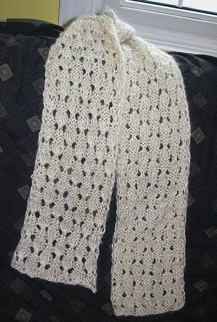Free Knitting Pattern Scarves Dewdrop Simple Lace Scarf