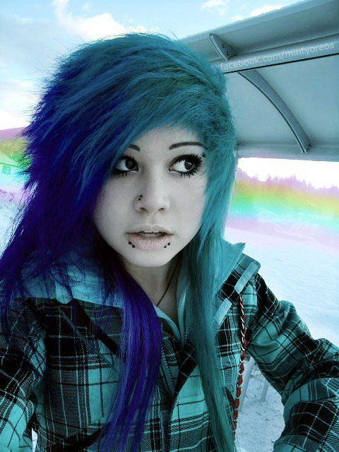 Tagged As Colorful Hair Scene Mintyoreo Scene Girl Scene Hair