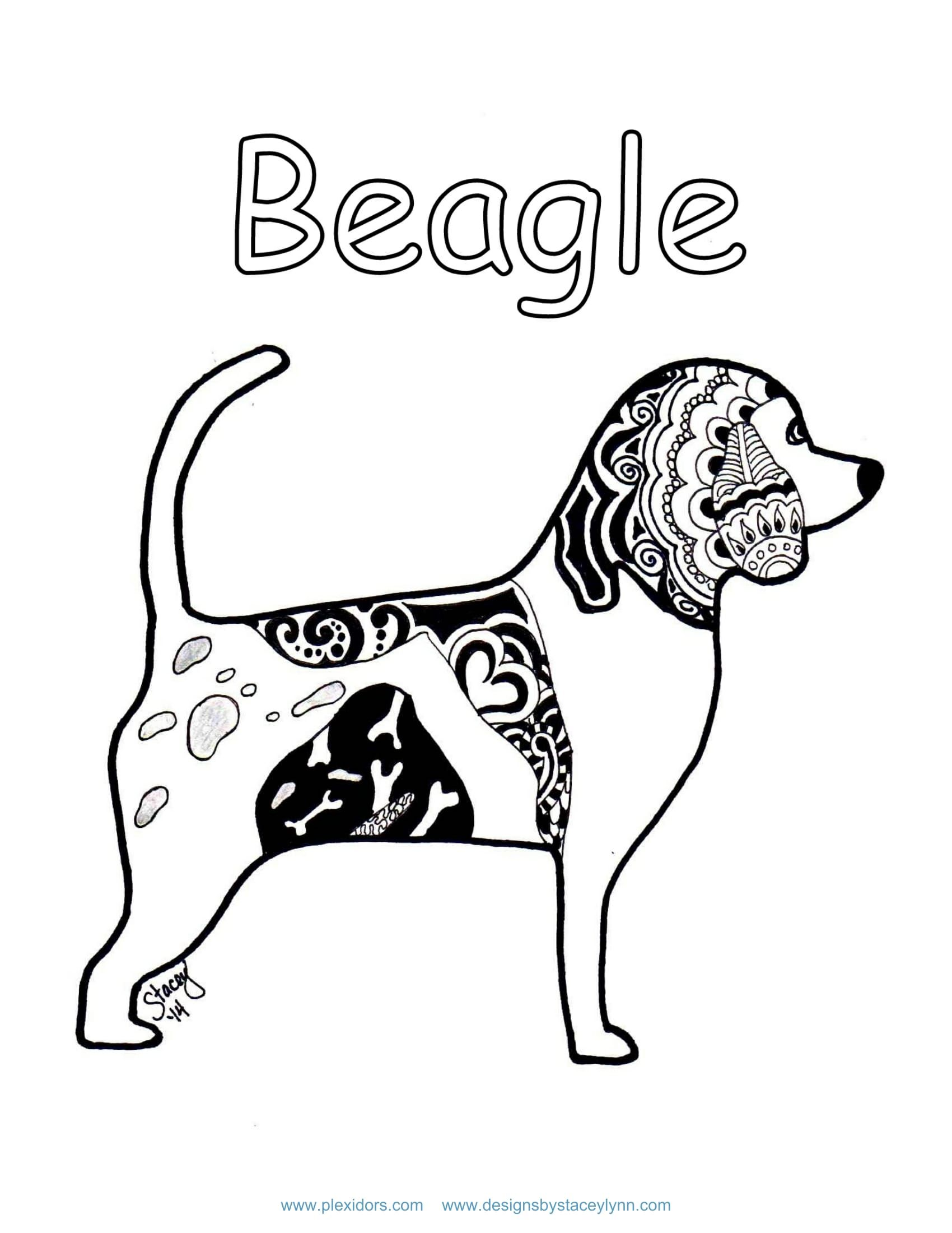 Beagle Coloring Page Plexidor Activity Book Pg 2 Pet Doors