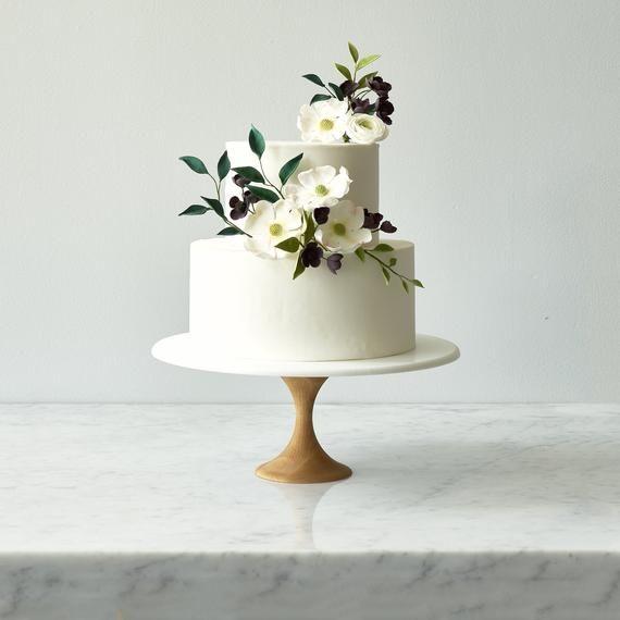 Modern Cake Stand - Wood Wedding Cake Stand - Whit