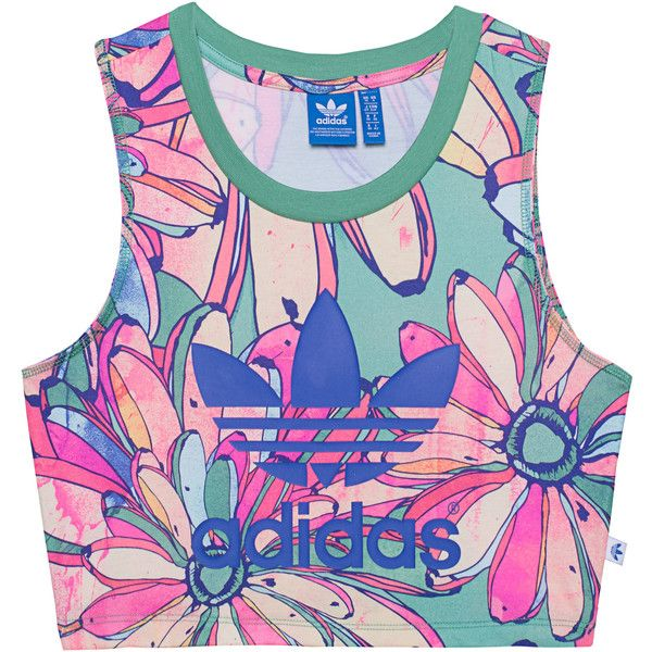 d35dc3a8ae290f ADIDAS ORIGINALS Bananas Cropped Multi    Printed crop top ( 45) ❤ liked on Polyvore  featuring tops