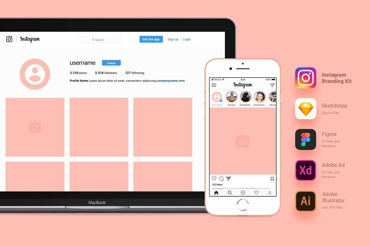 37 Instagram Mockup Psd Free Template Updated 2020 Graphic Cloud Instagram Mockup Instagram Branding Instagram Template