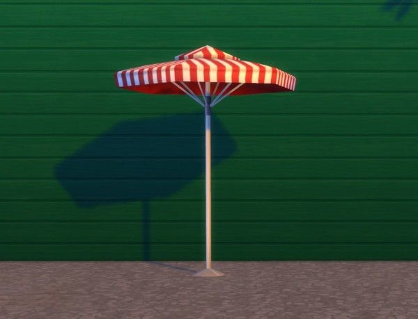Mod The Sims: Backyard Umbrella by plasticbox • Sims 4 Downloads