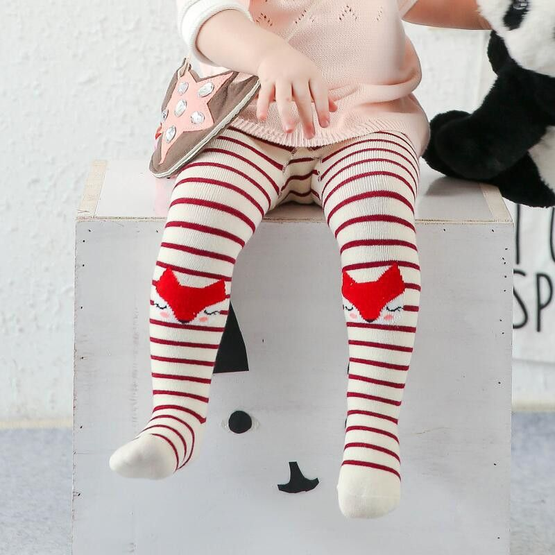 Click To Buy Kids Girls Baby Soft Stripe Pantyhose Tights Stockings Cartoon Fox Baby Girl Tights Cotton Cute Children Stocking Baby Girl Tights Cotton Tights Baby Tights