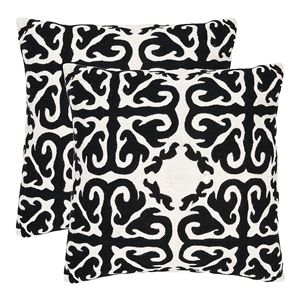 Moroccan black and white pillows