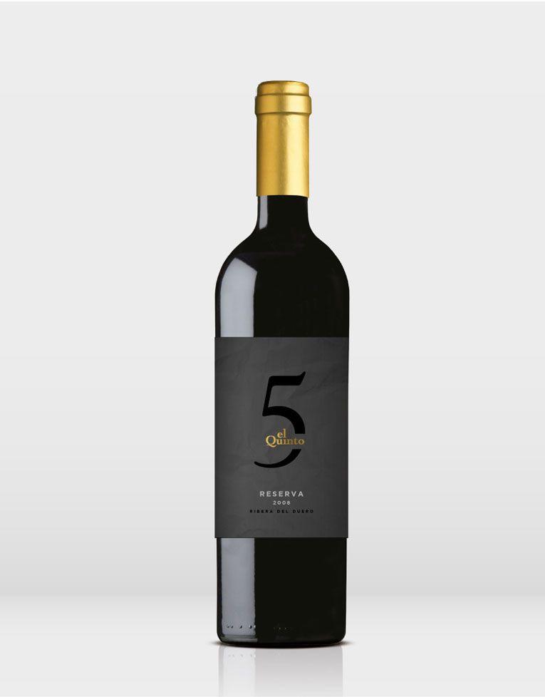 El Quinto wine label, by Studio 88 #taninotanino #vinosmaximum