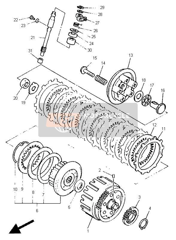 Yamaha XJ600S DIVERSION 1998 Spare Parts
