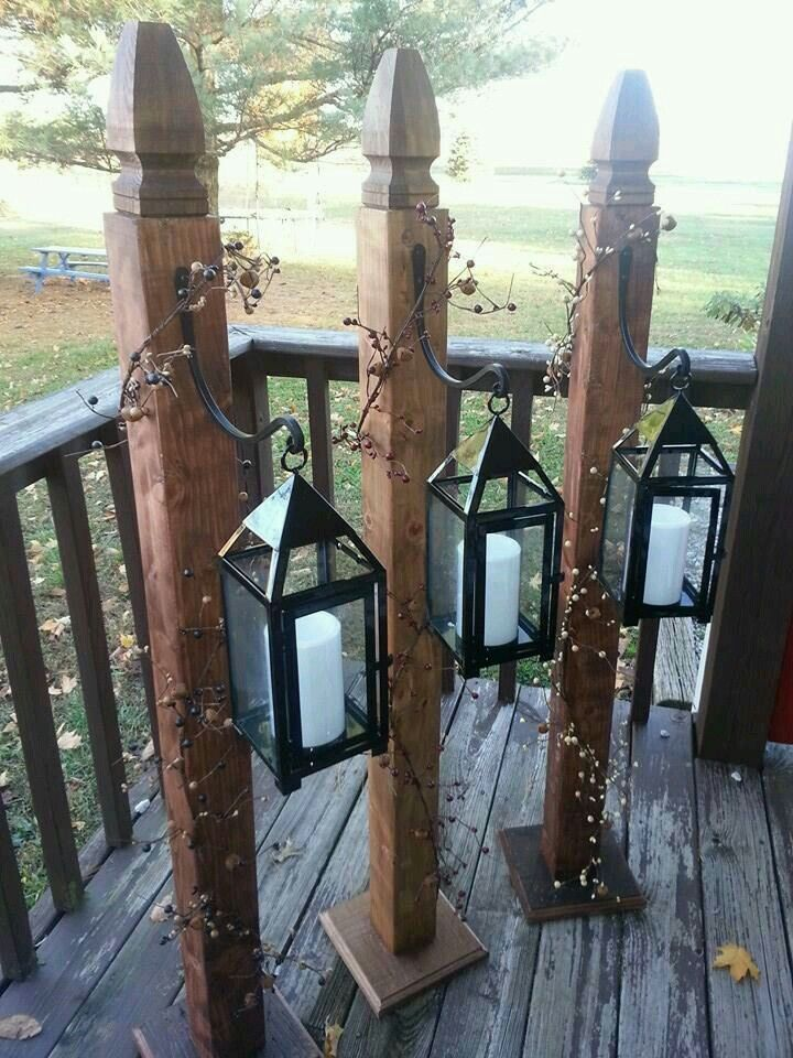 Hang Solar Lights Throughout The Garden Rustic Outdoor Solar Light Crafts Wood Christmas Decorations