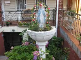 birdbath Marian shrine
