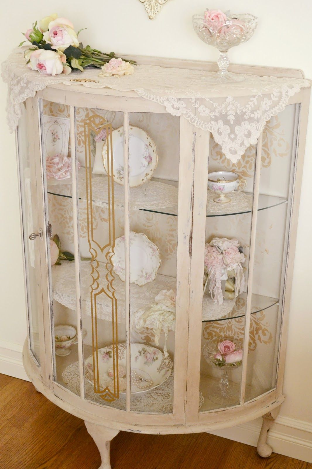 jennelise antique china cabinet shabby chic pinterest antique china cabinets antique. Black Bedroom Furniture Sets. Home Design Ideas