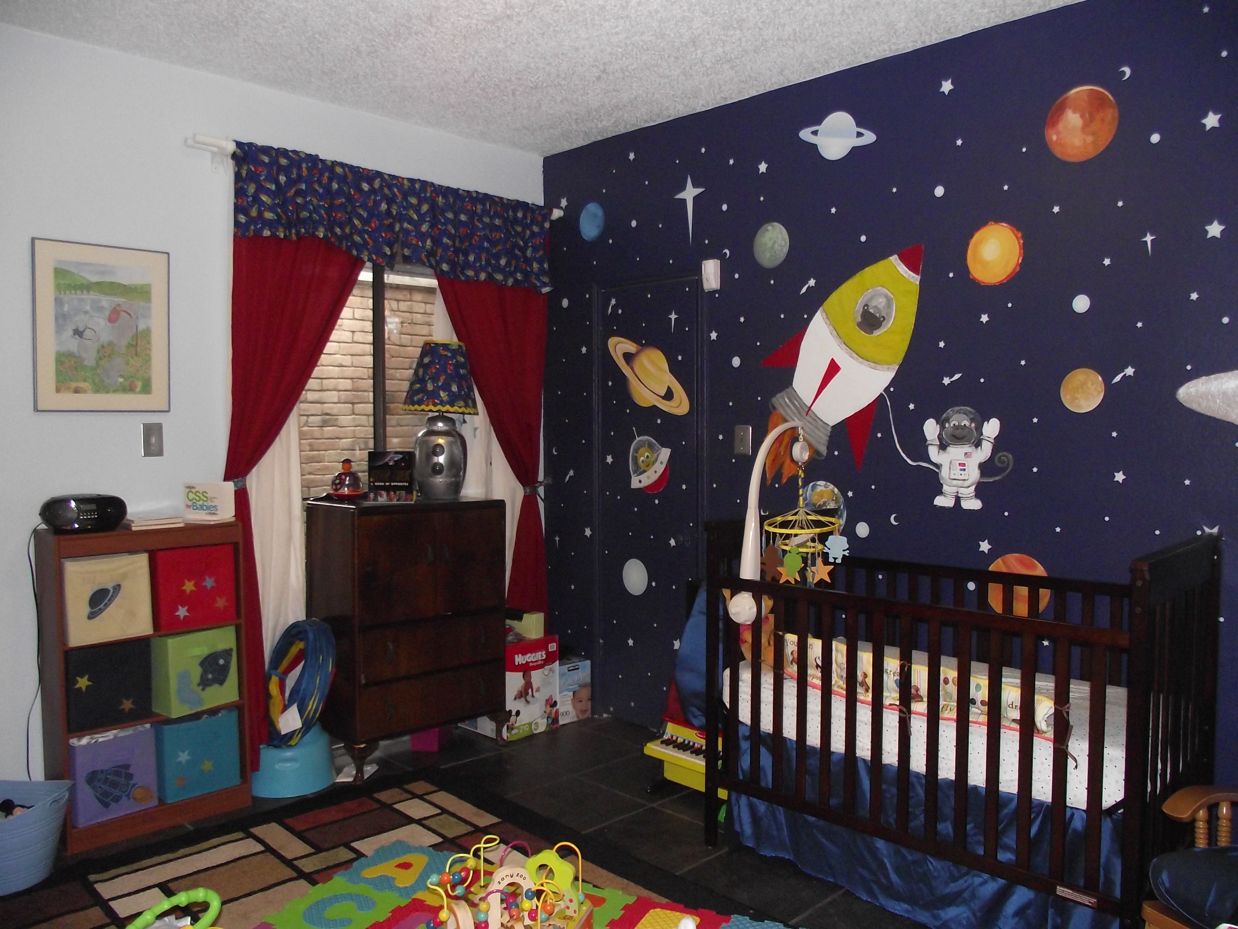 Pin By Mj Kelly On Kid S Room Space Themed Bedroom Bedroom Themes Space Themed Nursery