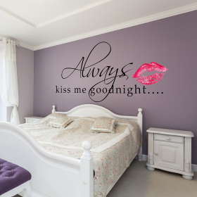 Always Kiss Me Goodnight Wall Sticker Removable Wall Stickers