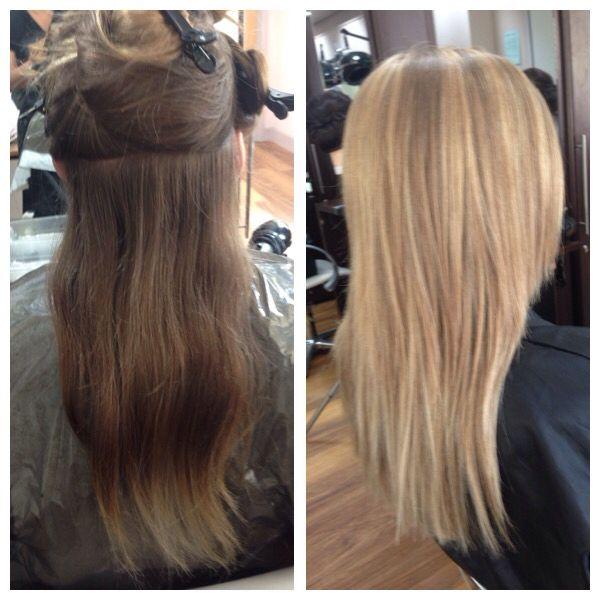 Full Head Highlights Hair Beauty Brunette To Blonde Great Hair