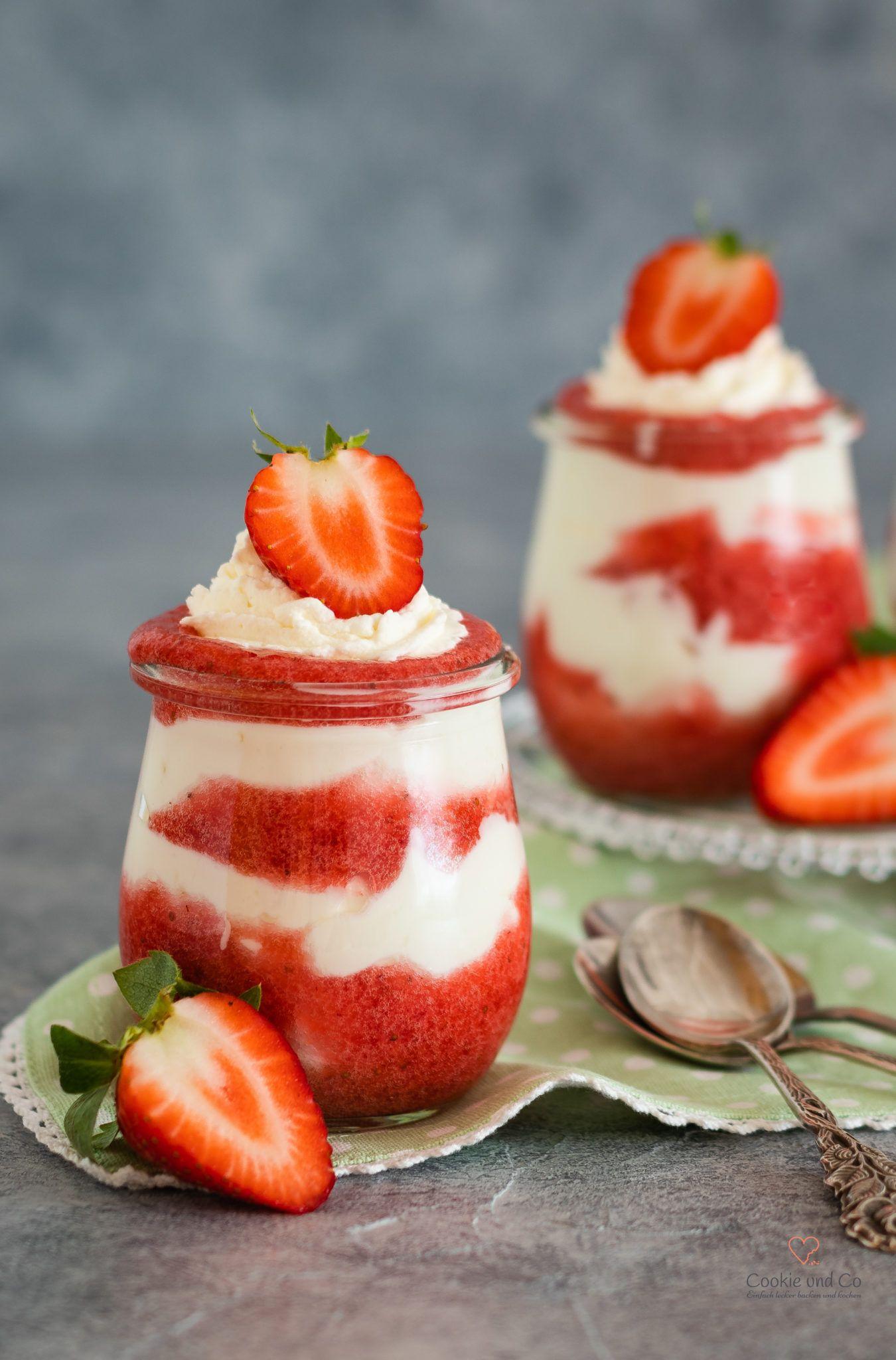 Erdbeer-Traum (Dessert im Glas) images