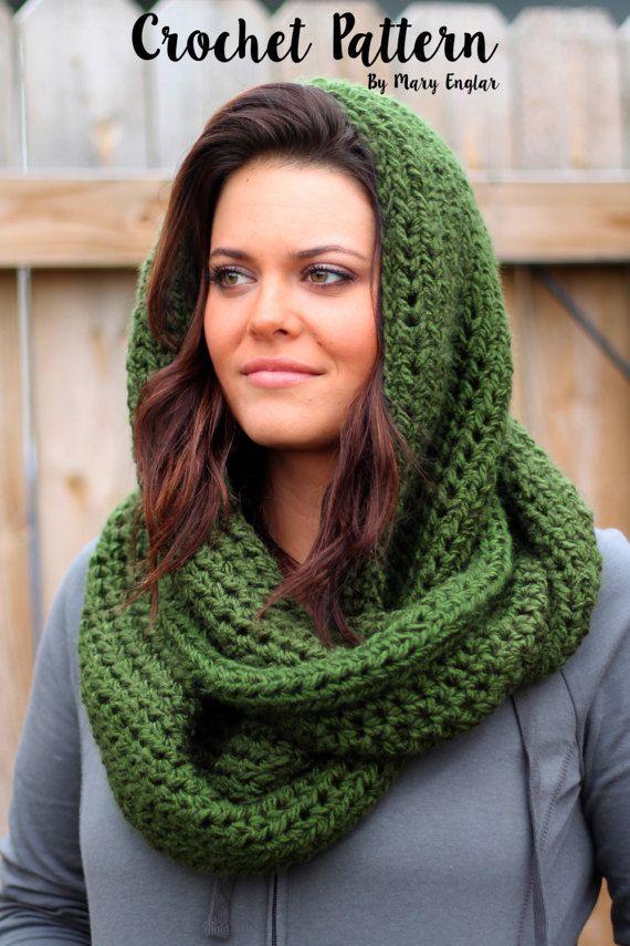 CROCHET PATTERN -Soft & Cozy Infinity Scarf Crochet Pattern- Instant ...