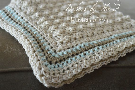 Baby Blanket Crochet Pattern Baby Afghan Pattern by BabiesByHand ...