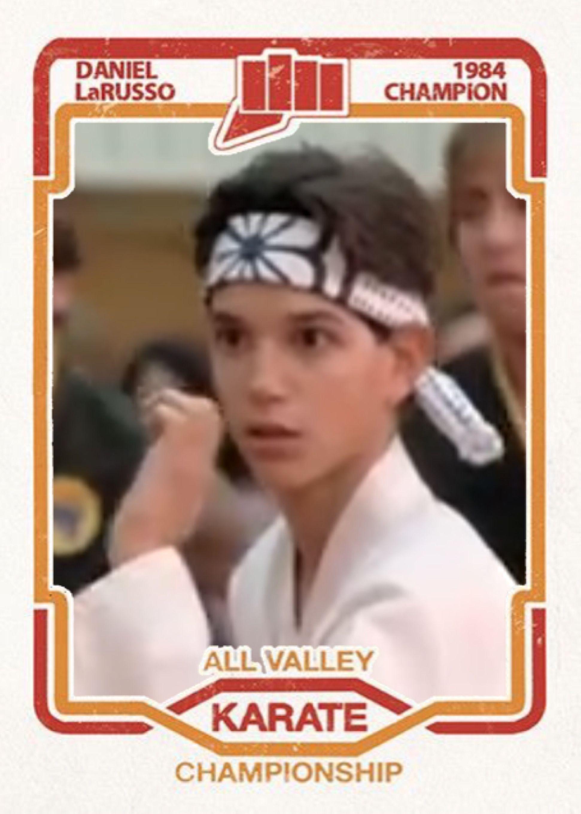 Daniel Larusso After Cuyler Smith Karate Kid Movie Movie Card Karate Kid