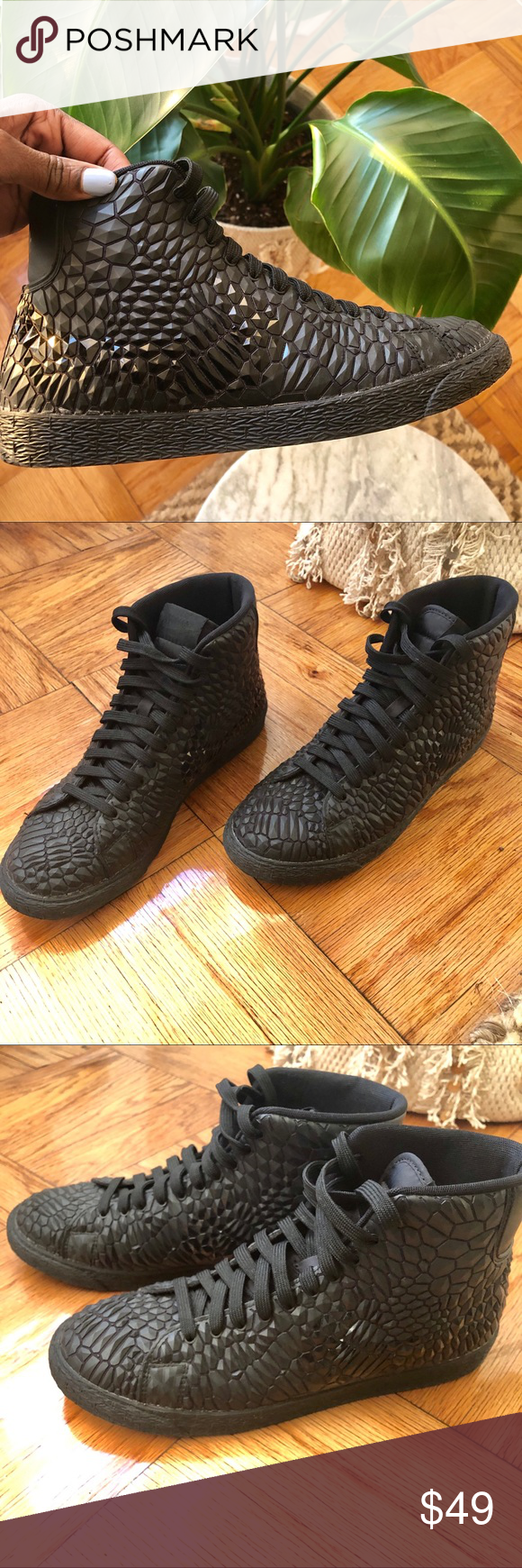 d5ce4d924cd8 Nike Women s Blazer Mid DMB Black Diamond A modern edgy take on the classic Nike  blazer
