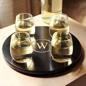 Round Wine Flight Tray Set $42