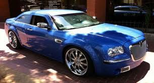 Blue Chrome Sweet Chrysler 300c Hemi