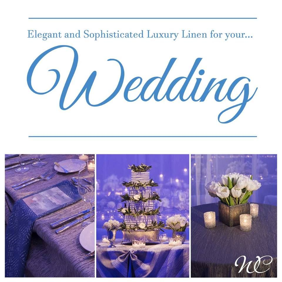 Elegant and sophisticated luxury linen for your wedding