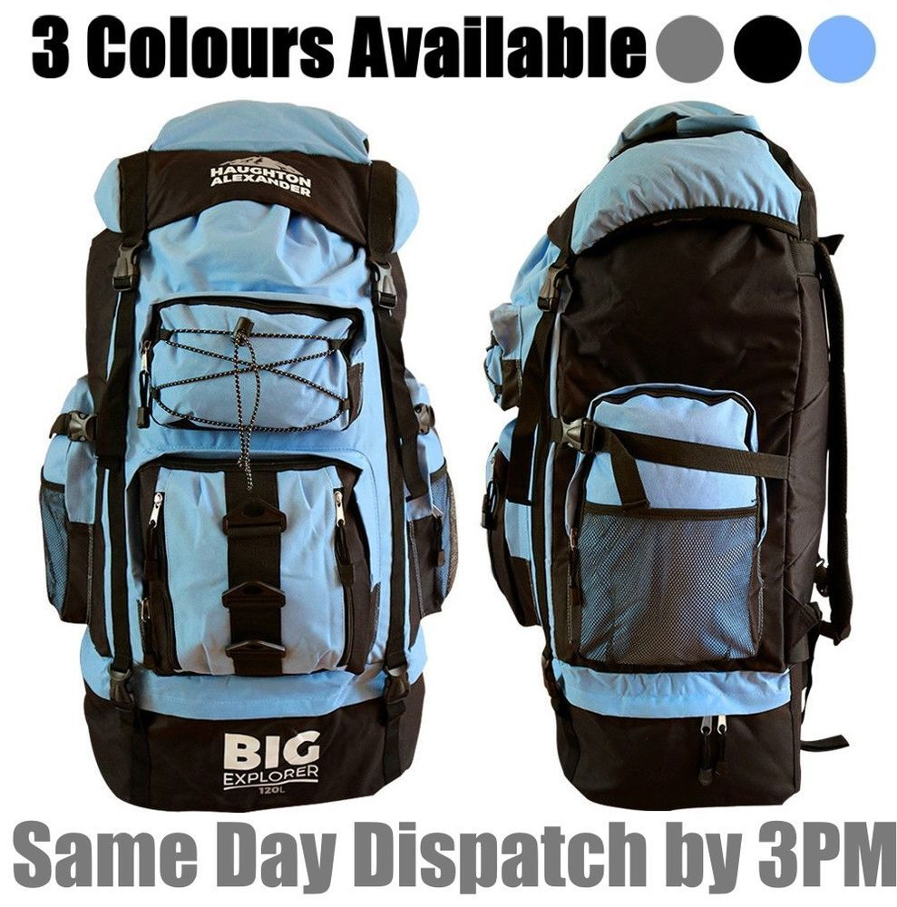 ca45dd560c83 Extra Large 120 L Travel Backpack Hiking Camping Rucksack Luggage Bag  CLEARANCE