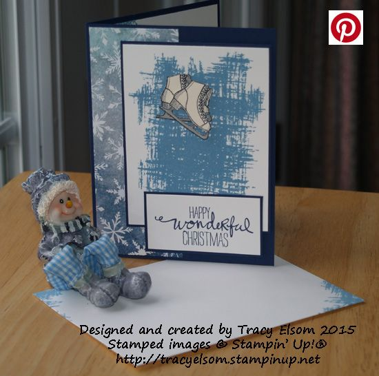 Christmas card created using the Winter Wishes and You`ve Got This Stamp Sets from Stampin`Up!  http://tracyelsom.stampinup.net