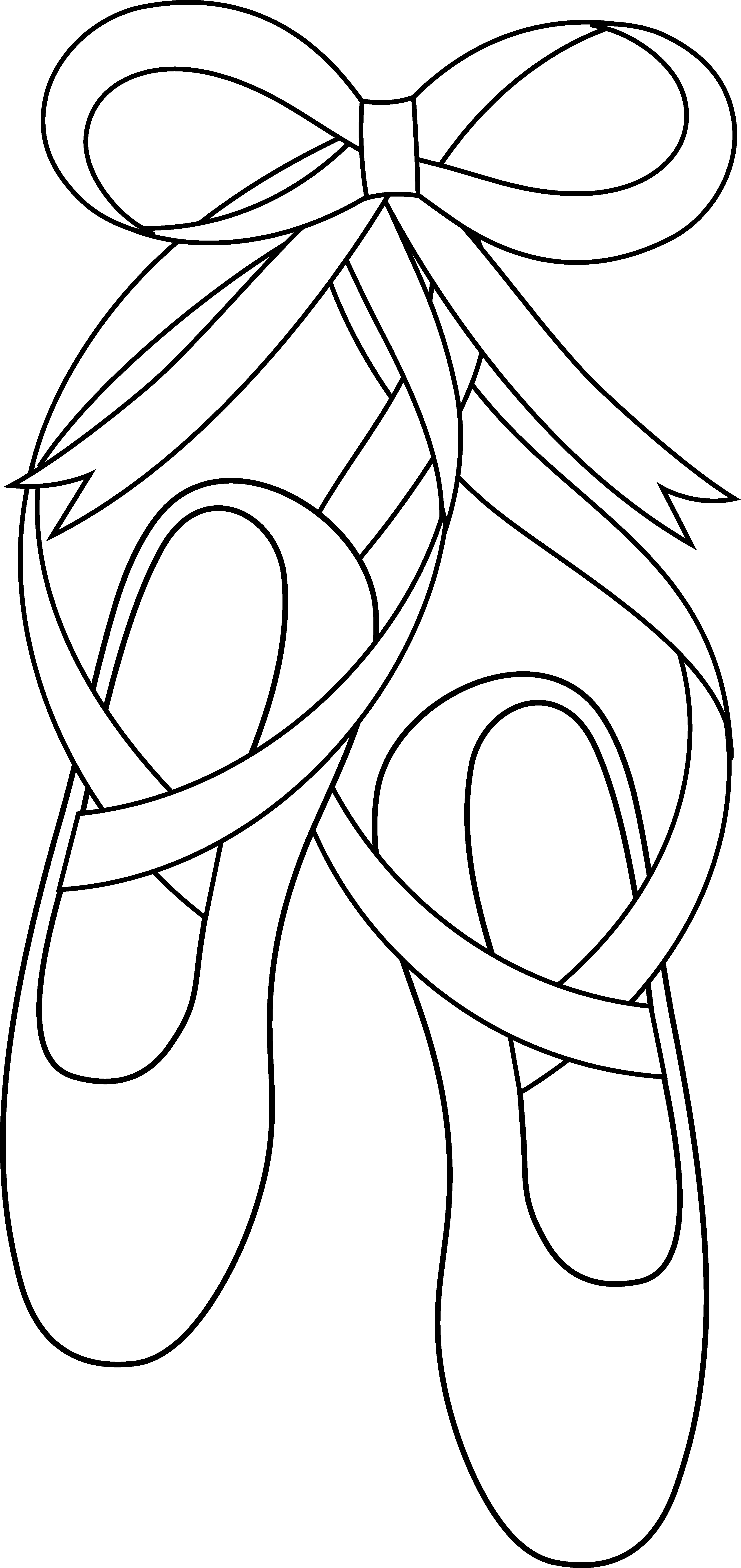 Ballet Slippers Line Art Free Clip Art Ballet Crafts Dance Crafts Coloring Pages