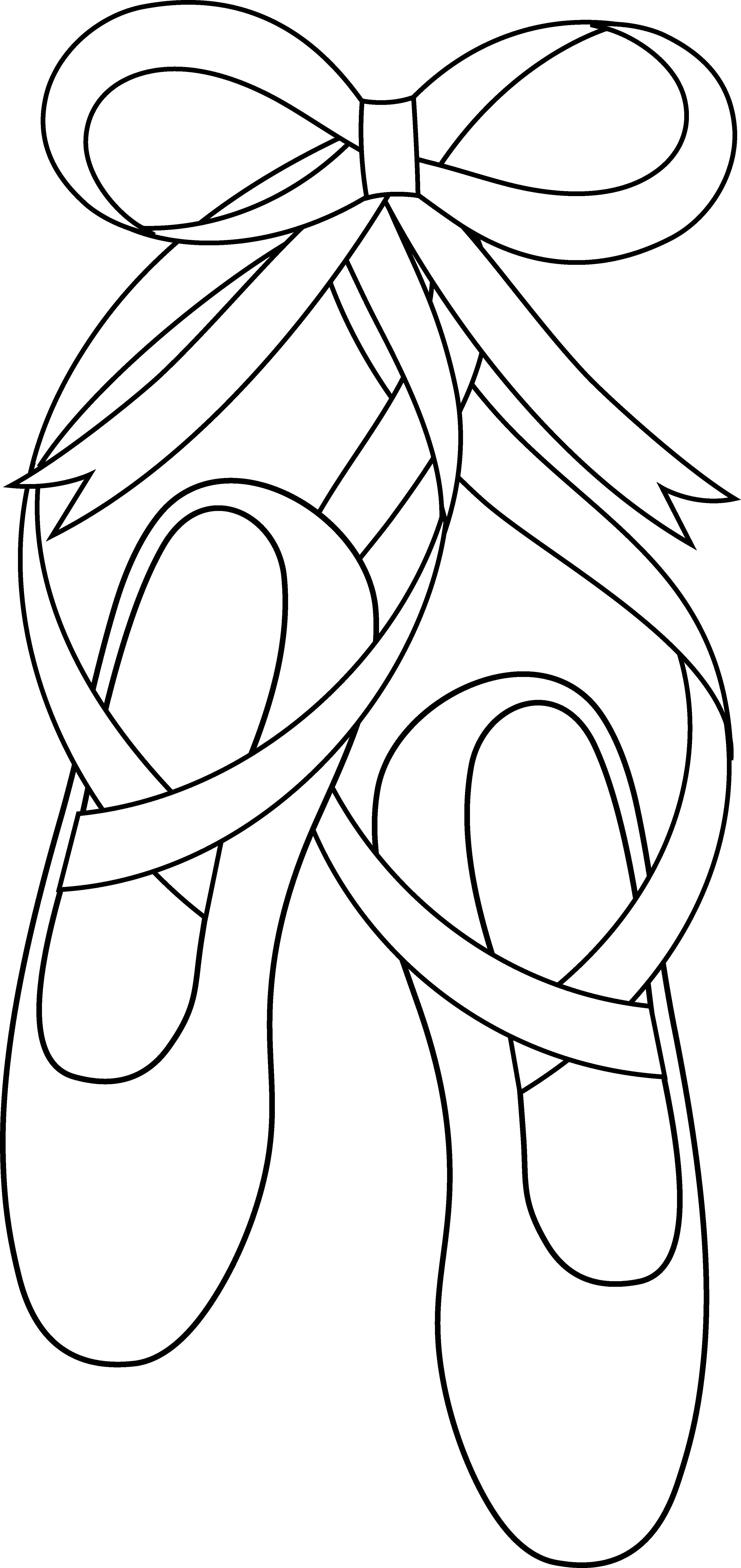 Ballet Slippers Line Art - Free Clip Art Ballet crafts