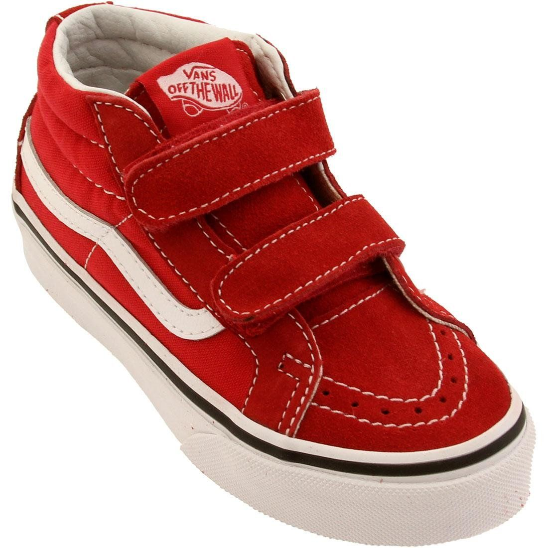 0faeb7688b6 Vans Sk8 Hi with velcro closure in red