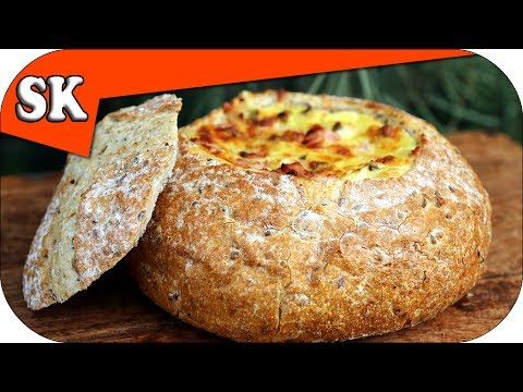 CHEESE DIP IN A COB LOAF - Series of Dips on Steve's Kitchen