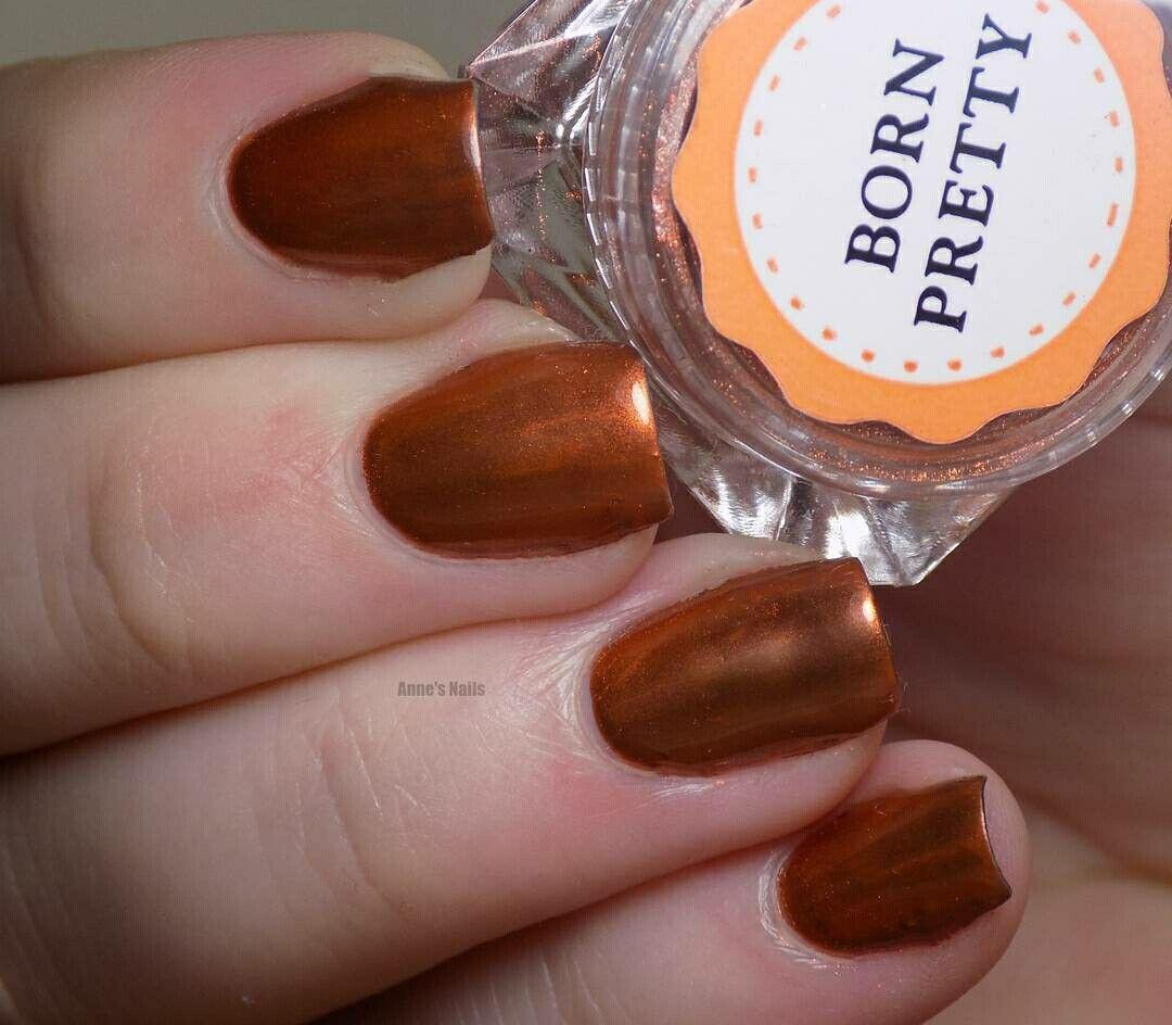 Born Pretty Copper Chrome Powder Nails