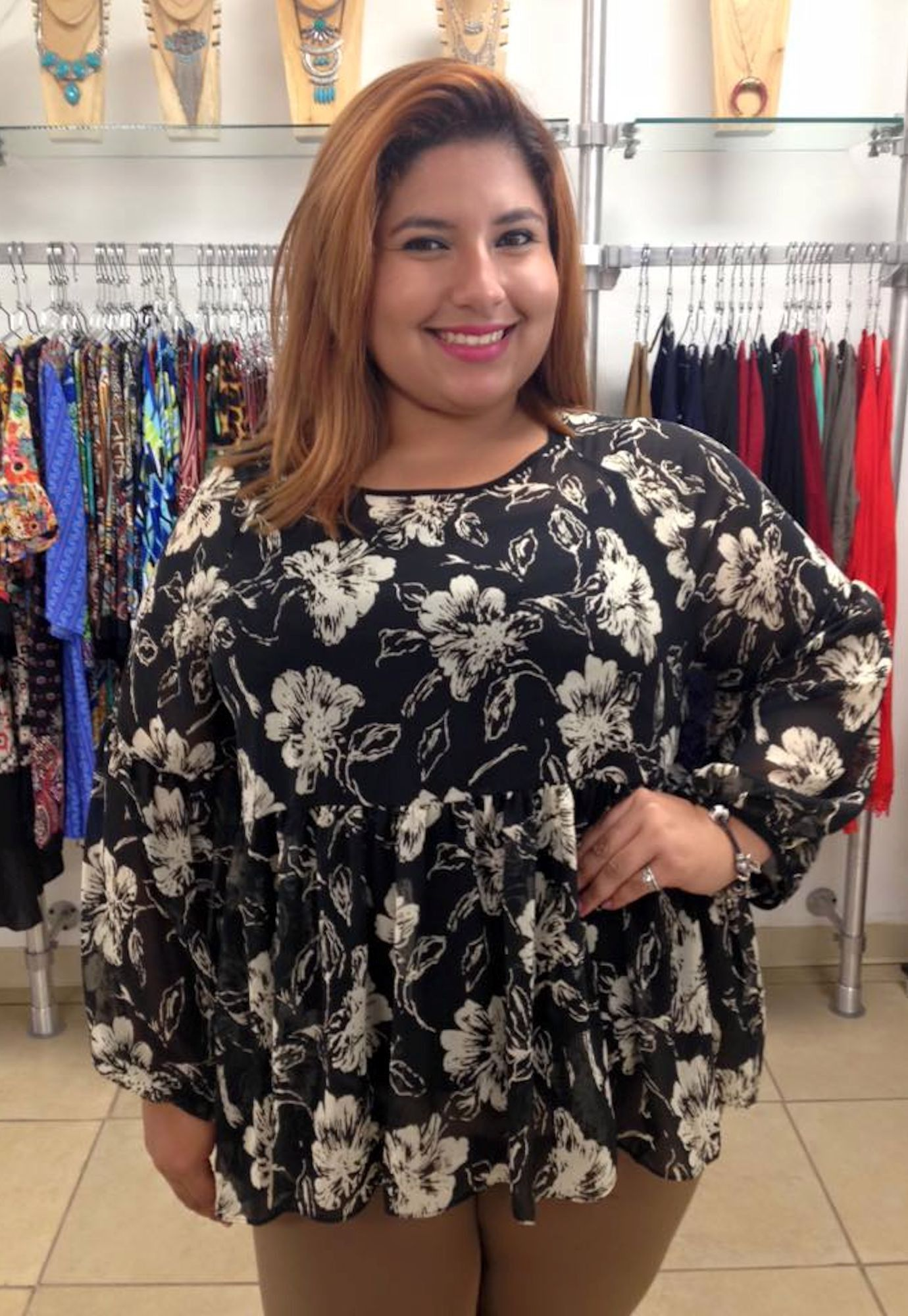 Plus Size Long Sleeve Spring Top